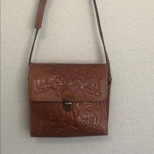 Patricia Nash Bags - Patricia Nash Lanza Brown Leather Crossbody Bag